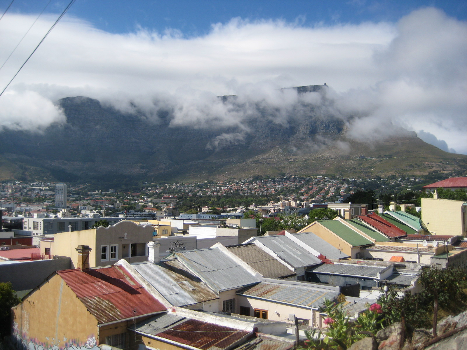 Looking out over the Bo-Kaap in Cape Town, South Africa