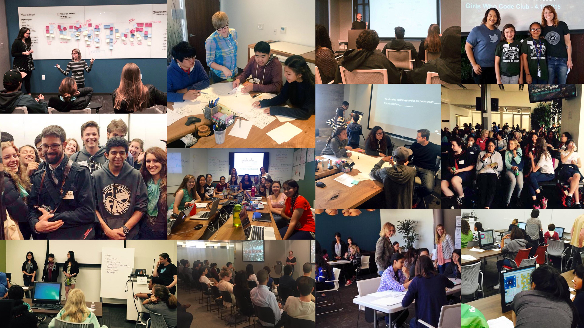 A sampling of photos from the 12 design education workshops I led in 2015.