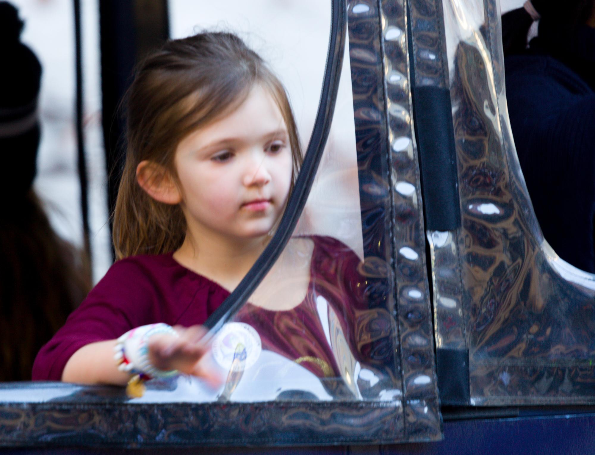 The girl in the acetate window