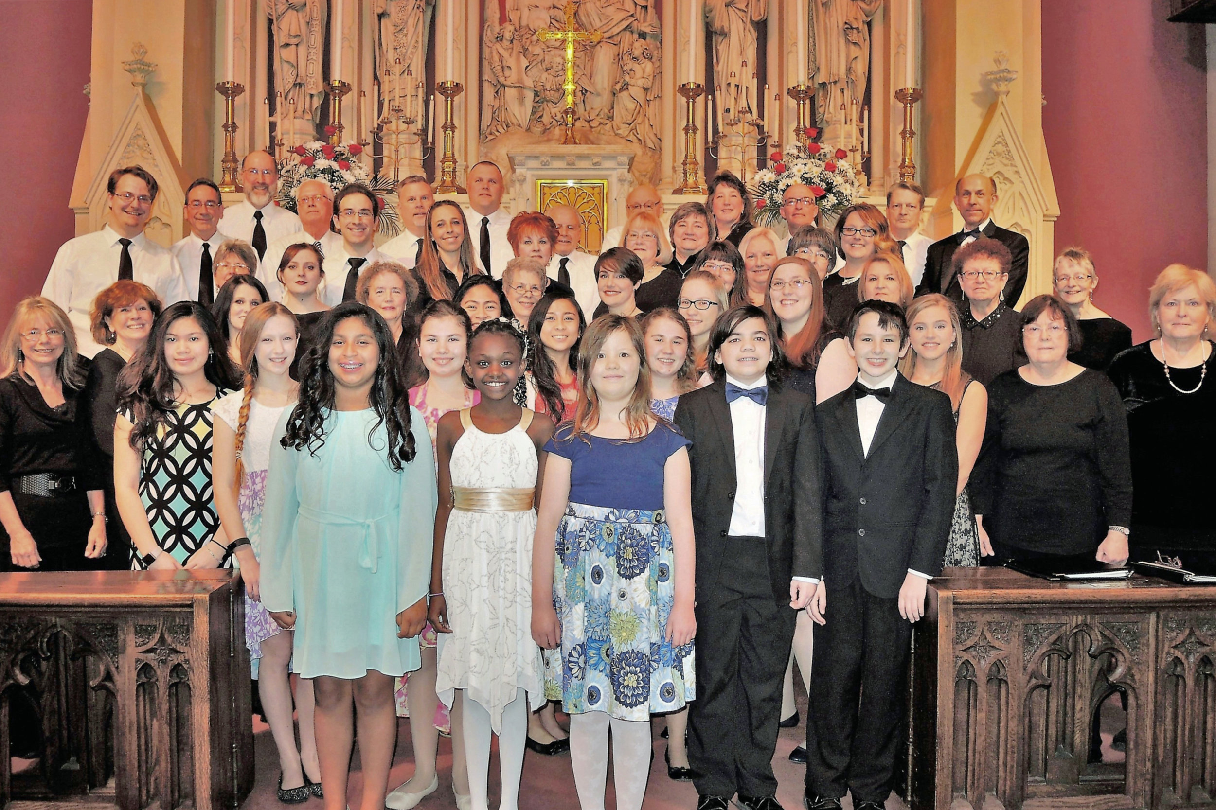 Along with an orchestra of 40 players and 4 additional soloists, this was the choir that presented   Cantata Memoria: For the Children of Aberfan   in its third ever performance, 26 February, 2017.
