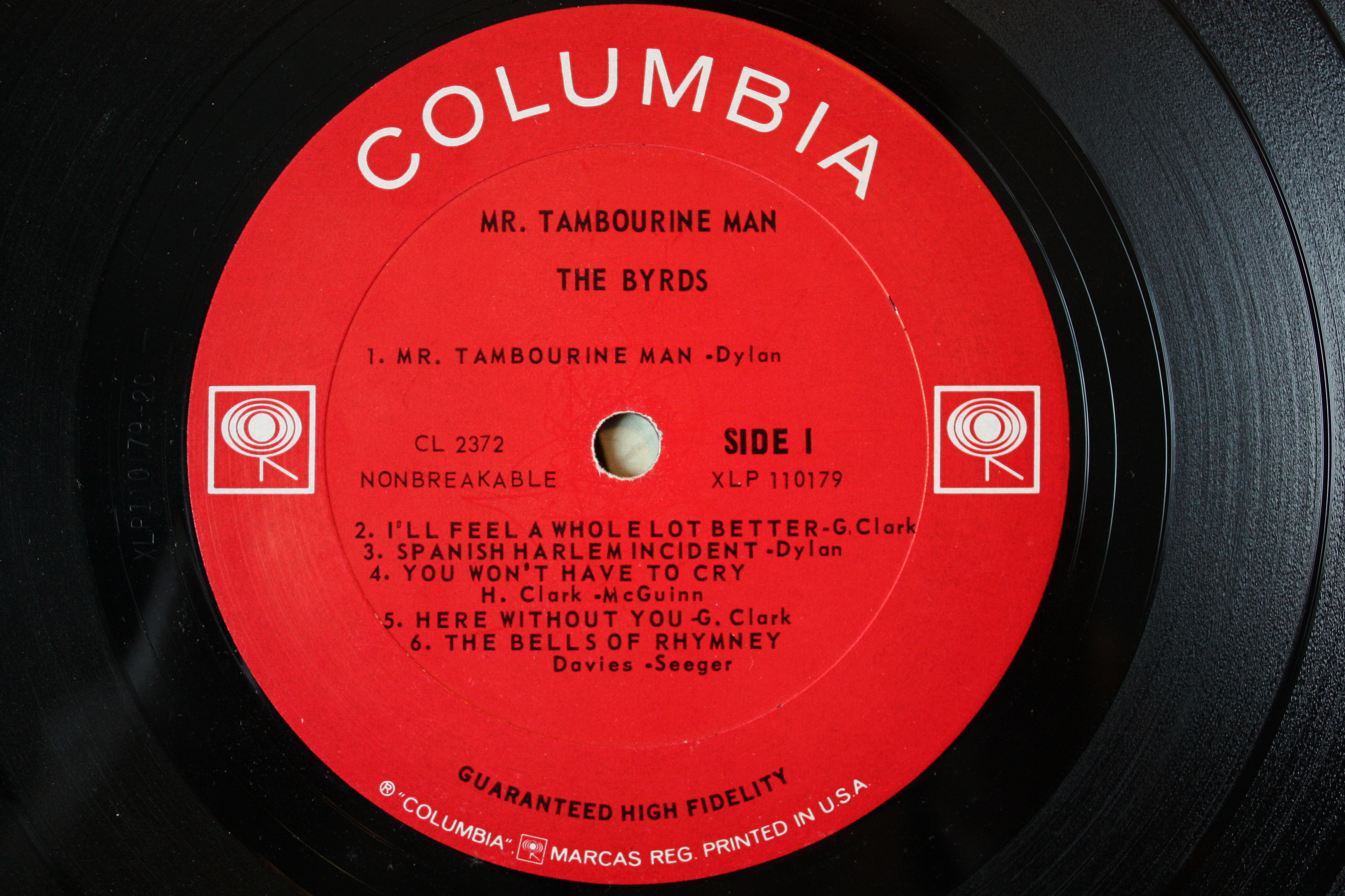 Mr. Tambourine Man label