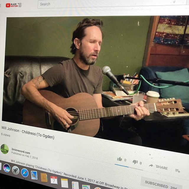 "New video just posted of Will Johnson playing his song, ""Childress (To Ogden)"" over on our YouTube channel. Check it out!"