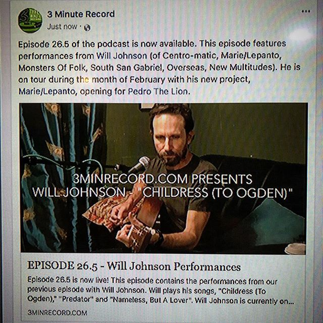 We are so proud to share these @willjohnsontx songs! Will is on tour now with @marielepantomusic