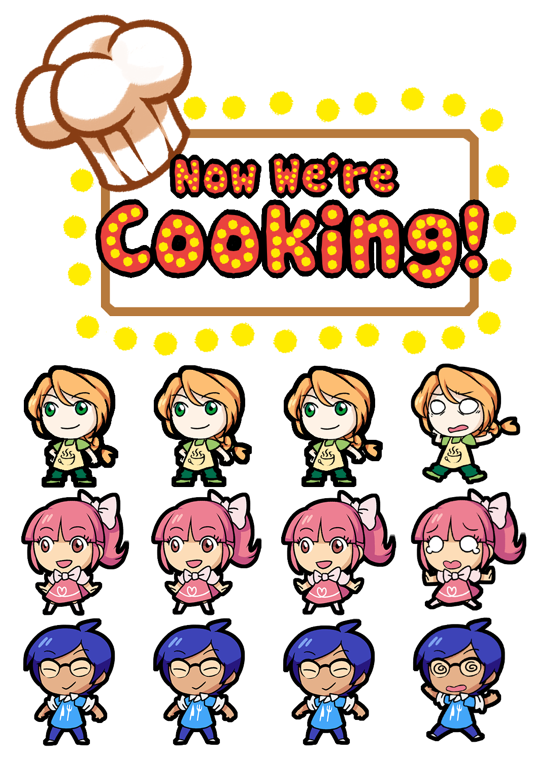 Now We're Cooking Logo and Sprites