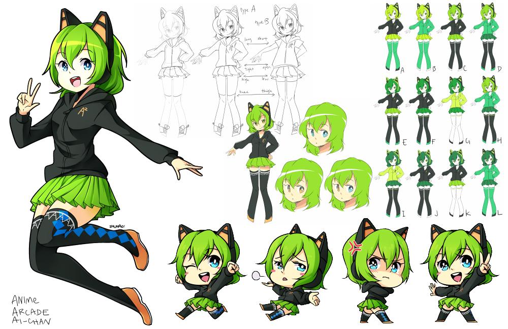 Anime Arcade's Mascot, Ai-chan