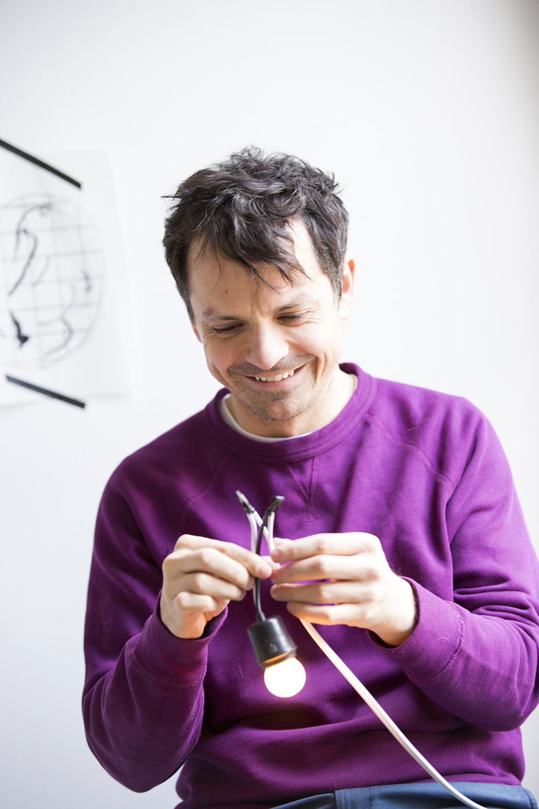 Federico Schott in his studio, New York, NY, 2015.