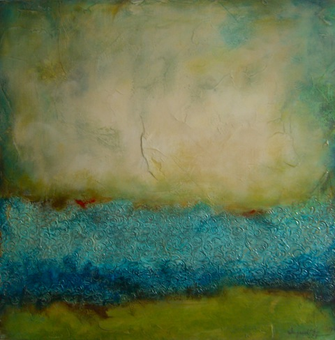 """Glimmering Pool // 24"""" x 24"""" SOLD"""