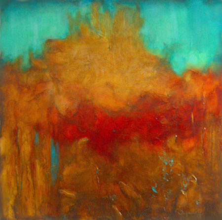 """Reaching Up // 48"""" x 48"""" SOLD"""