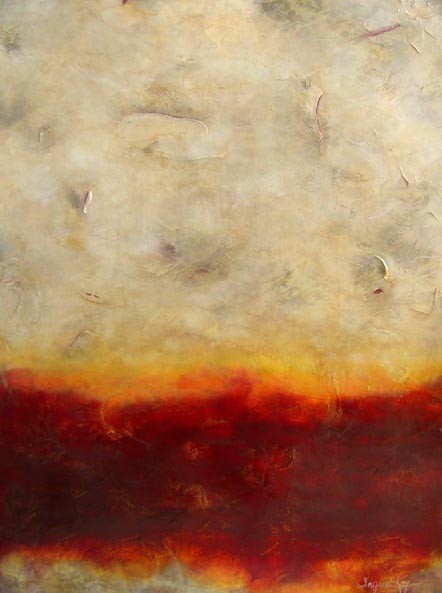 """Crystal Sunset // 36"""" x 48"""" // SOLD"""