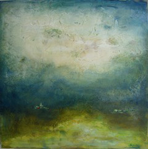 """Meadow of Grace // 36"""" x 36"""" // SOLD"""