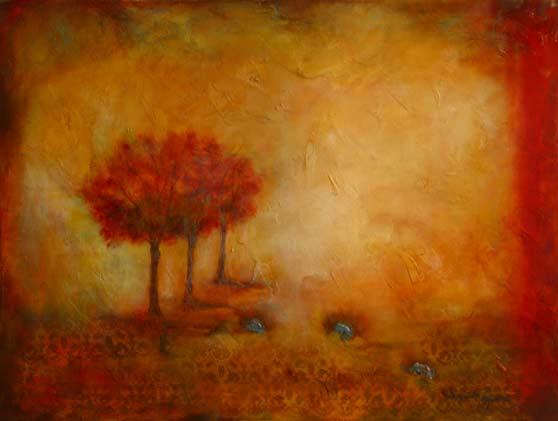 """Autumn Mist // 30"""" x 40"""" // SOLD"""