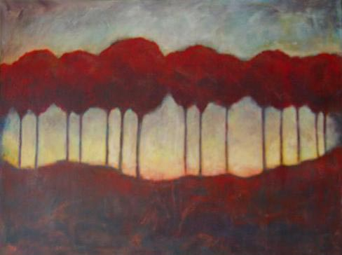 """Red Trees // 24"""" x 36"""" // SOLD"""