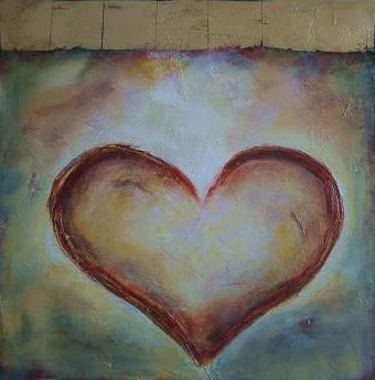 """Heart // 20"""" x 20"""" // SOLD"""