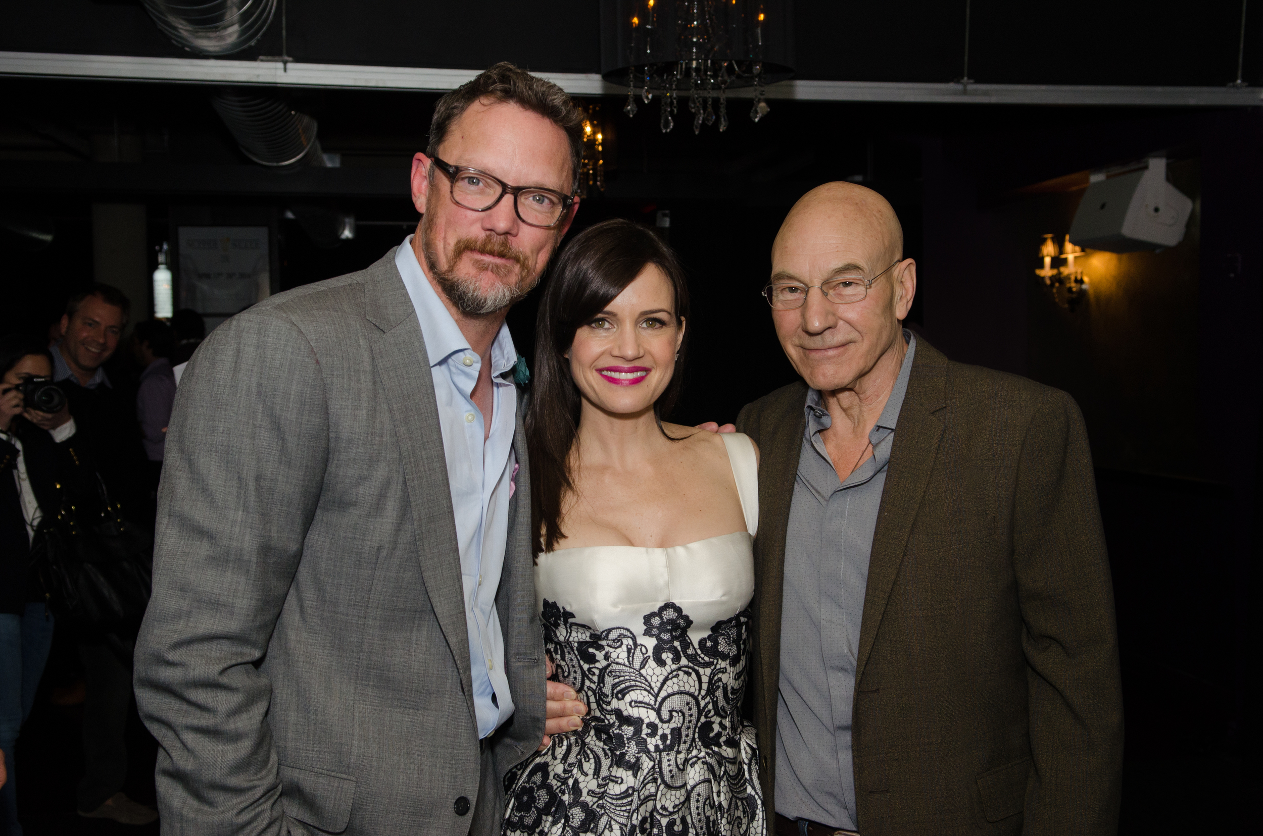 Matthew Lillard  [Scooby-Doo],  Carla Gugino  [Night at the Museum], and  Patrick Stewart  [Star Trek, X-Men] @ 'MATCH' Cast Pre-Premiere Party At Supper Suite By STK Hosted With Fiji Water And Dobel Tequila