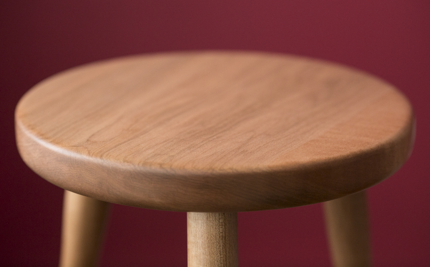 Stool, hard maple