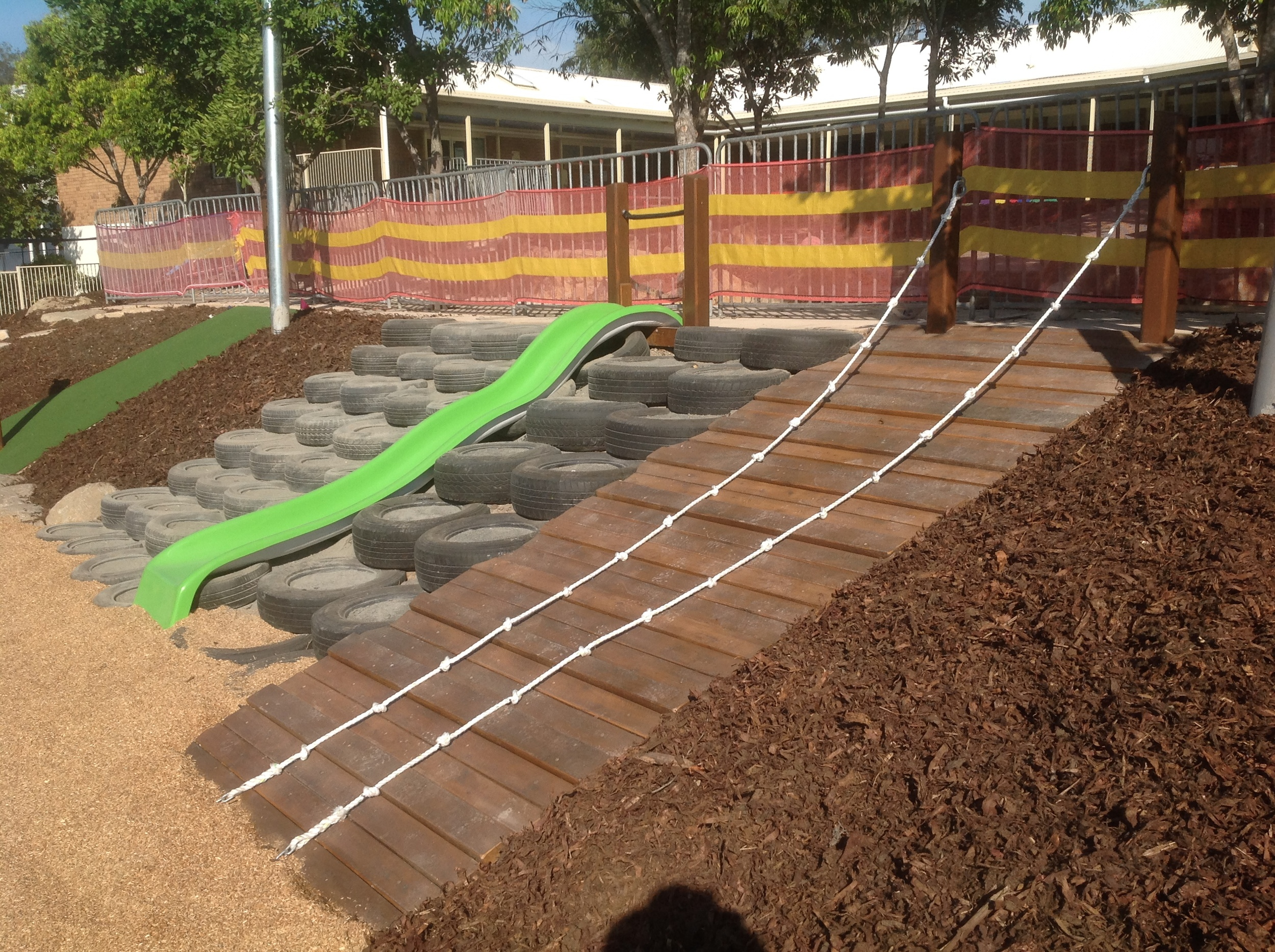 MULTIPLE  ACCESS TO LOWER LEVEL VIA RAMP, TYRE CLIMB, SLIDE