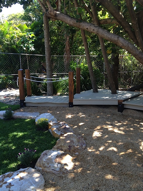 Decks around existing tree
