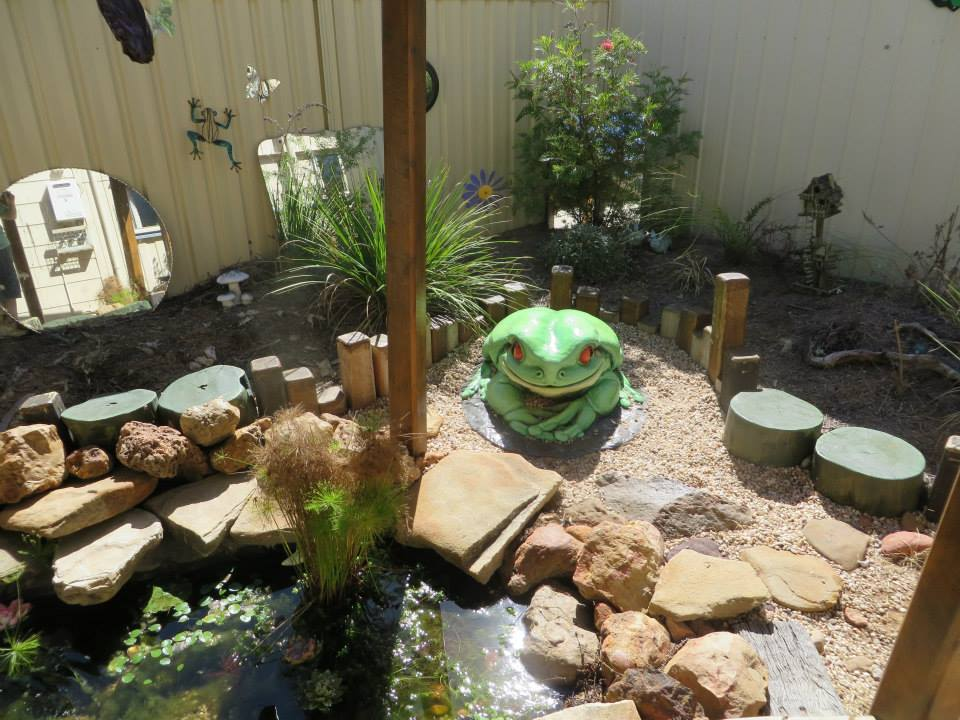 Who says you can't have a butterfly and frog garden