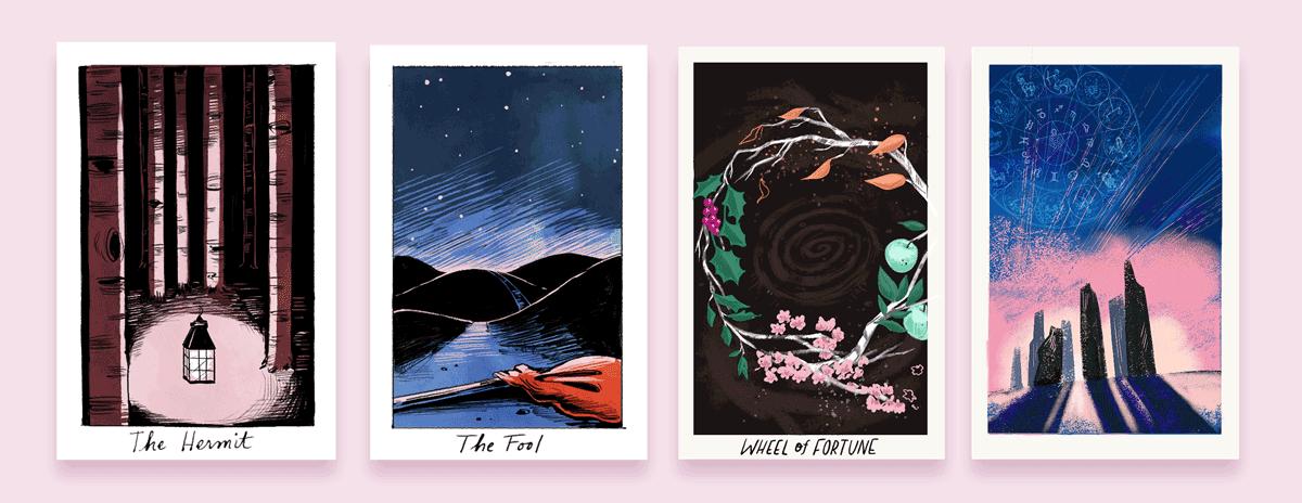 spacious tarot-deck-art-illustrator