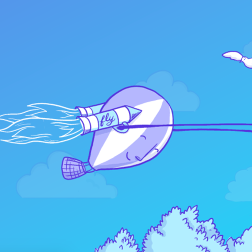 Fly.io - Illustration and mascot creation