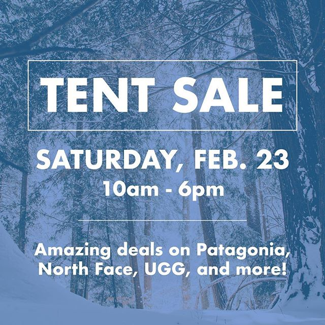 It's time again for our tent sale this Saturday! We've got so many great things marked down, you certainly don't want to miss it! We've got product from last summer and this past winter at some pretty awesome prices 👌🏼