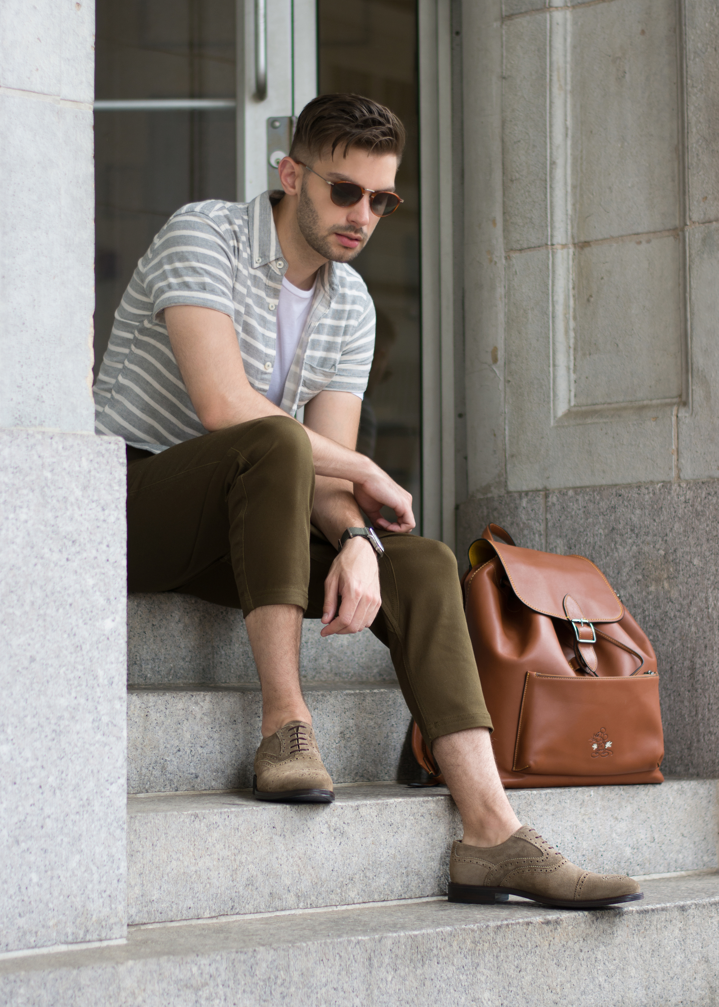 Crosby Square Suede Brogues   The Modern Otter