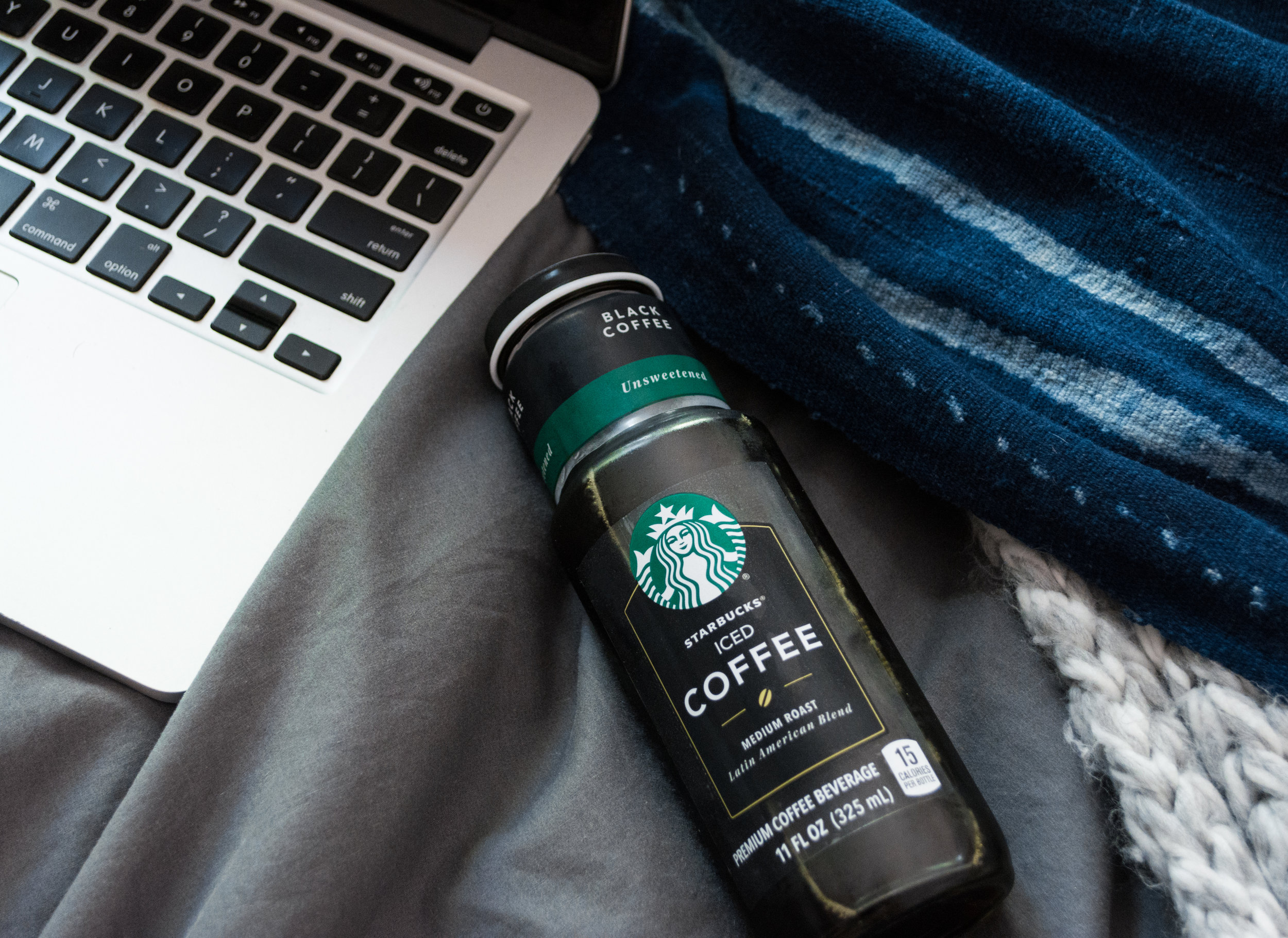 Bookend Routine with Starbucks Bottled Iced Coffee
