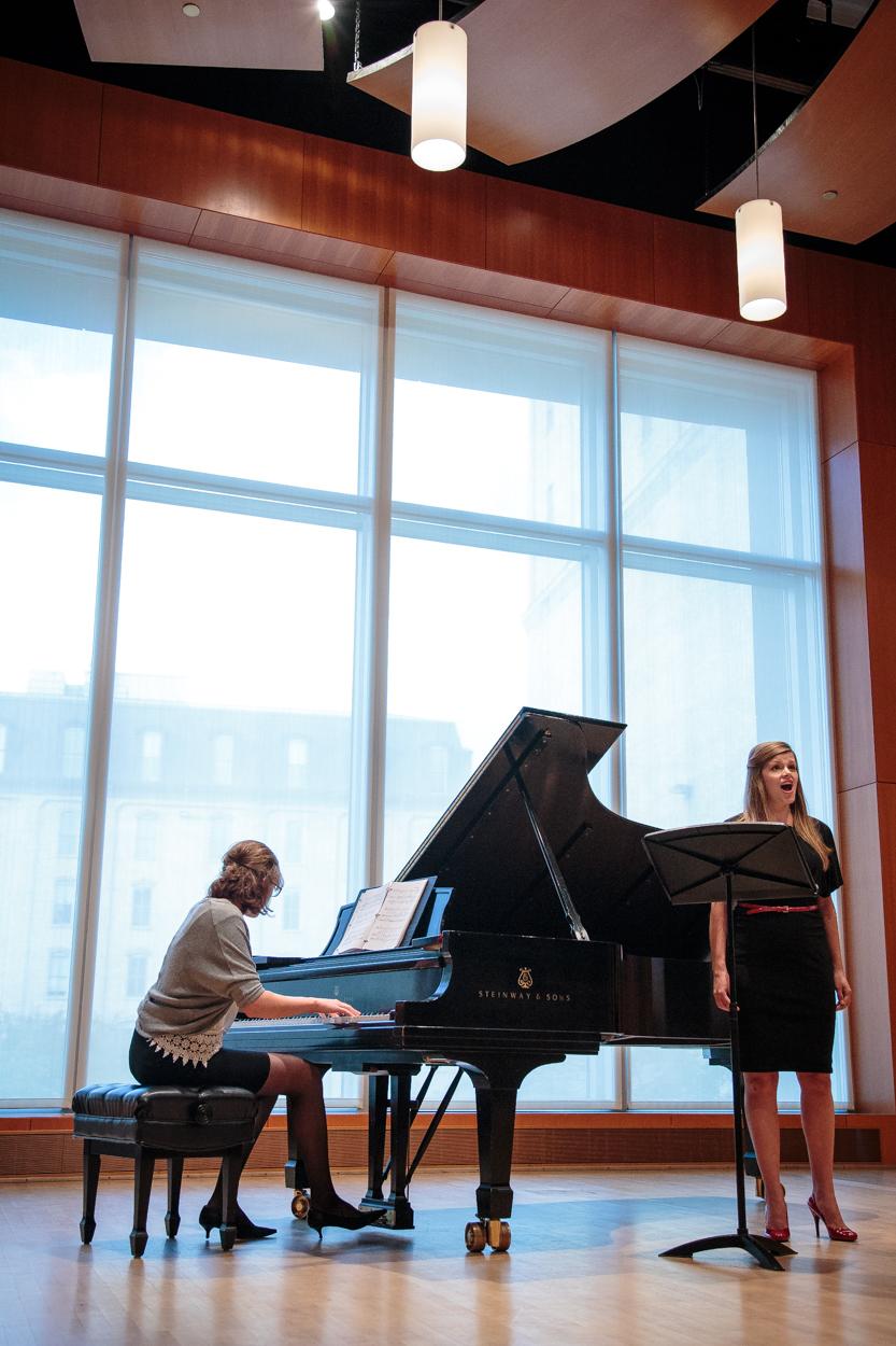Students in Antonello Recital Hall