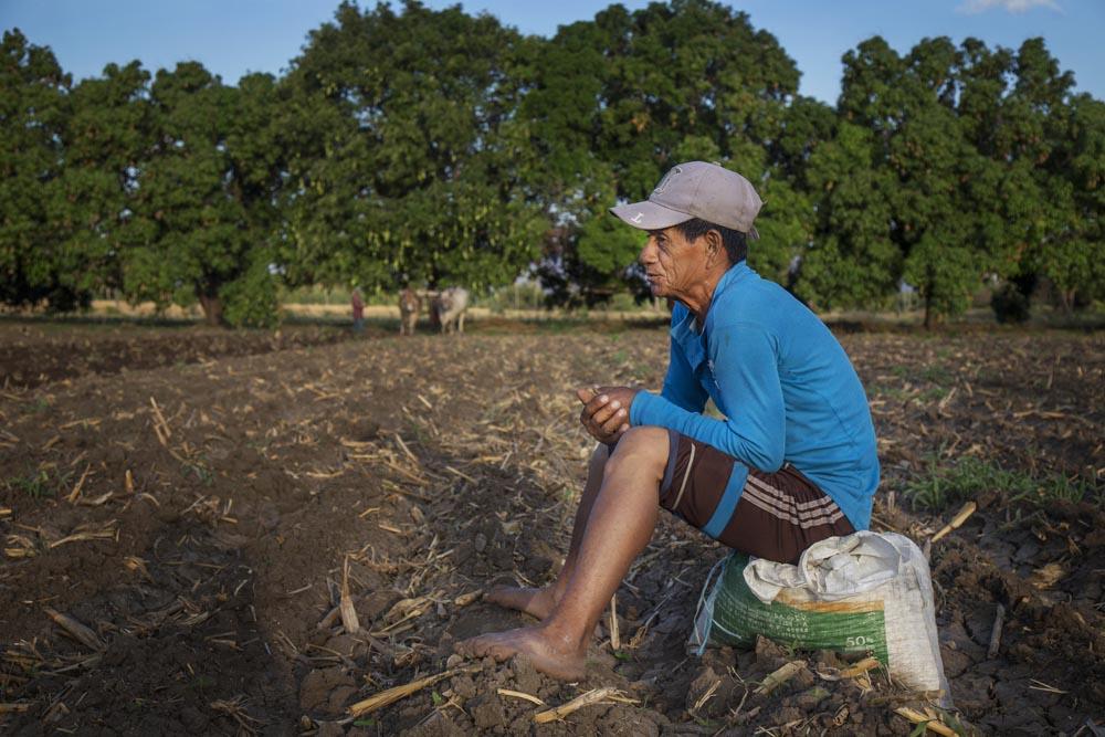 Retrato de Margarito, sembrador. Margarito es dueño de su propia parcela, pero para tener un ingreso extra realiza trabajo de siembra en terrenos ajenos.