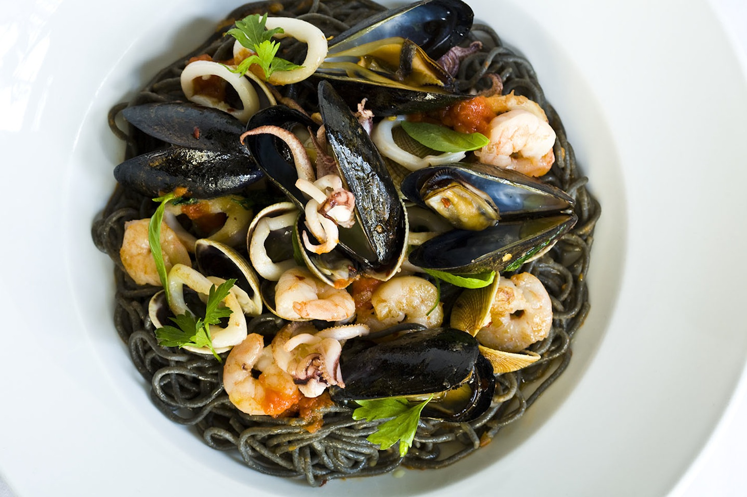 Nyc Event Catering - JPO Concepts - Squid Ink Pasta
