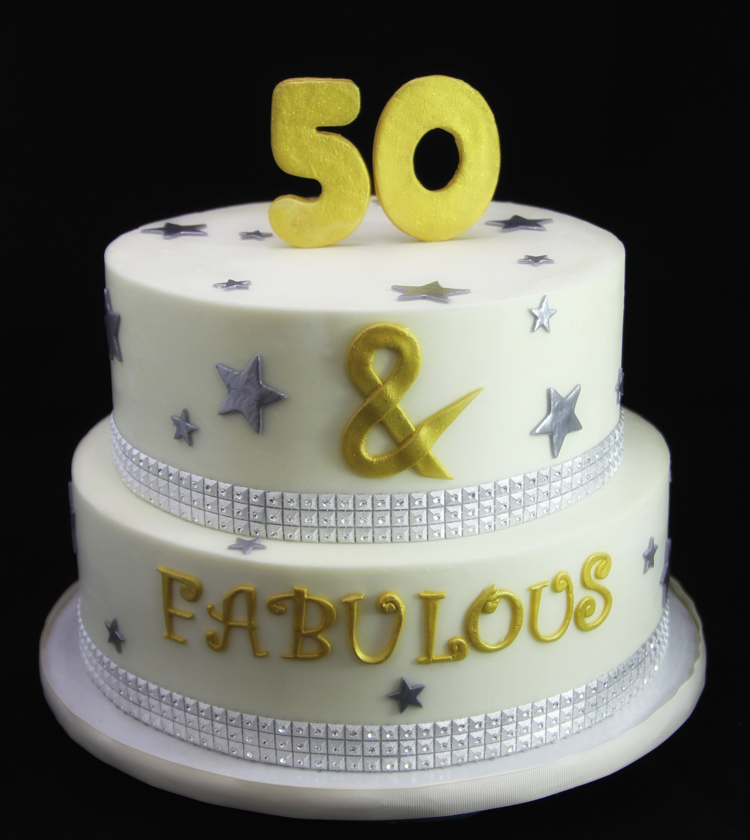 50 & Fabulous Glam and Stars Cake.jpg