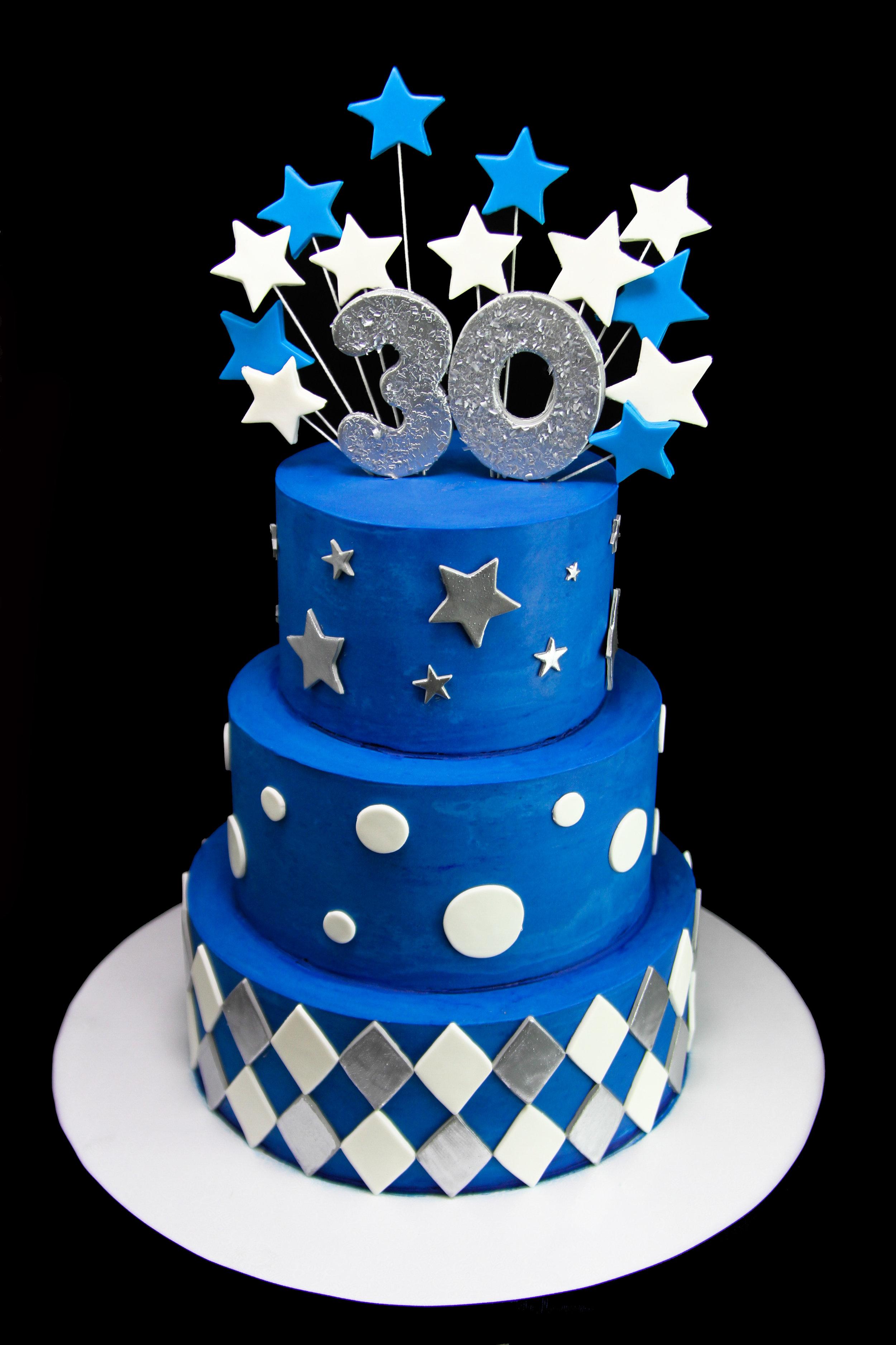 Chevron 30th Birthday Cake.jpg