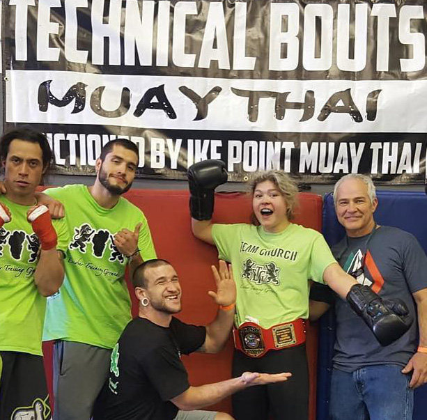 Nikki Cruz 130, Escobar Training Grounds, South Lake Tahoe, CA. Title won @ TECHNICAL BOUTS MUAY THAI CHAMPIONSHIP SERIES Free flow academy, march 30, 2019