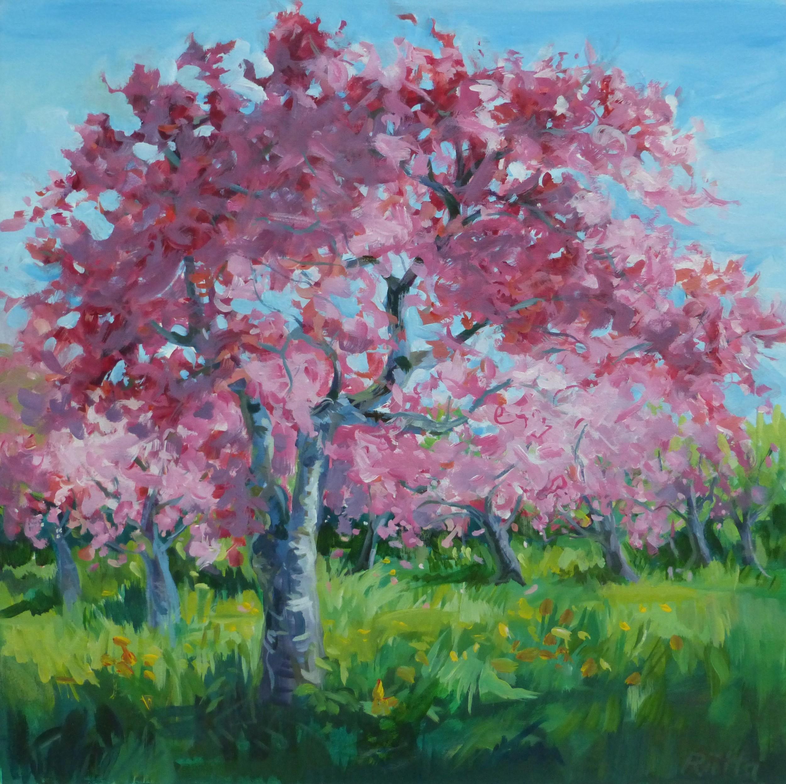 The Joy of Spring 24 x 24 acrylic