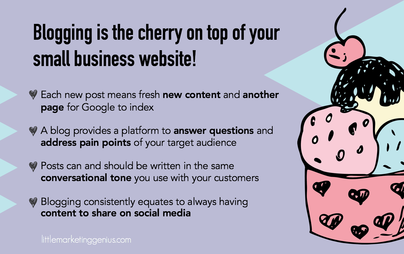 Blogging Is The Cherry On Top Of A Small Business Website Infographic.png