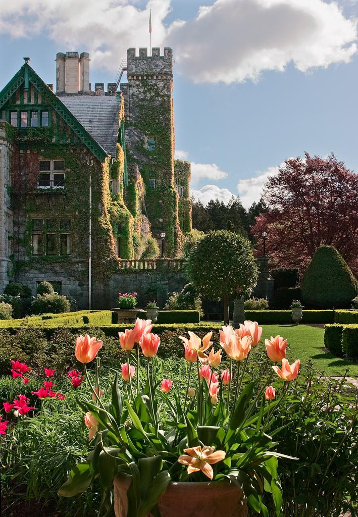 Hatley Castle in Springtime
