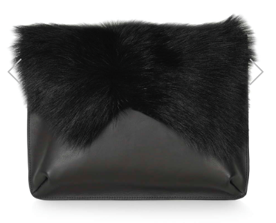 Topshop Fur Clutch