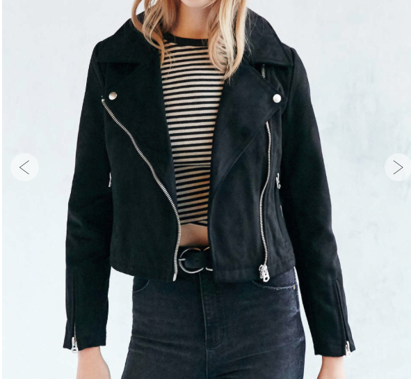 UO Suede Moto Jacket