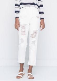 Pull & Bear White Jeans