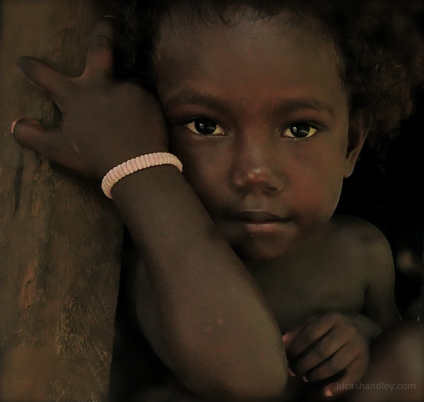 One of the children from the village
