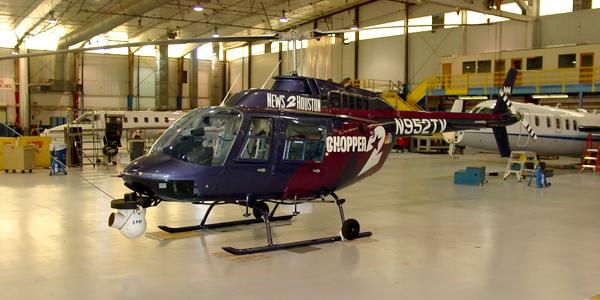 T.W. Hicks, Inc. Resurfaced 90,000 Sq. Feet of Landmark Aviation's Beautiful Hangar Floors!