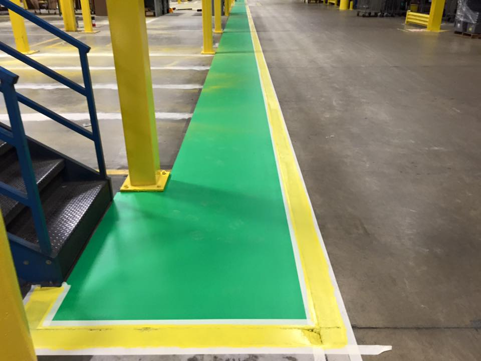 Improve the efficiency and safety of your warehouse operations by allowing T.W. Hicks, Inc. to install safety stripes and ISO markings!