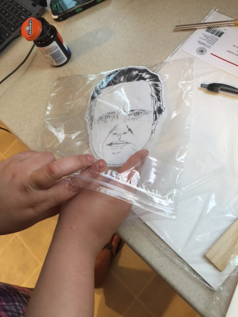 christopher walken mask into ziplock bag