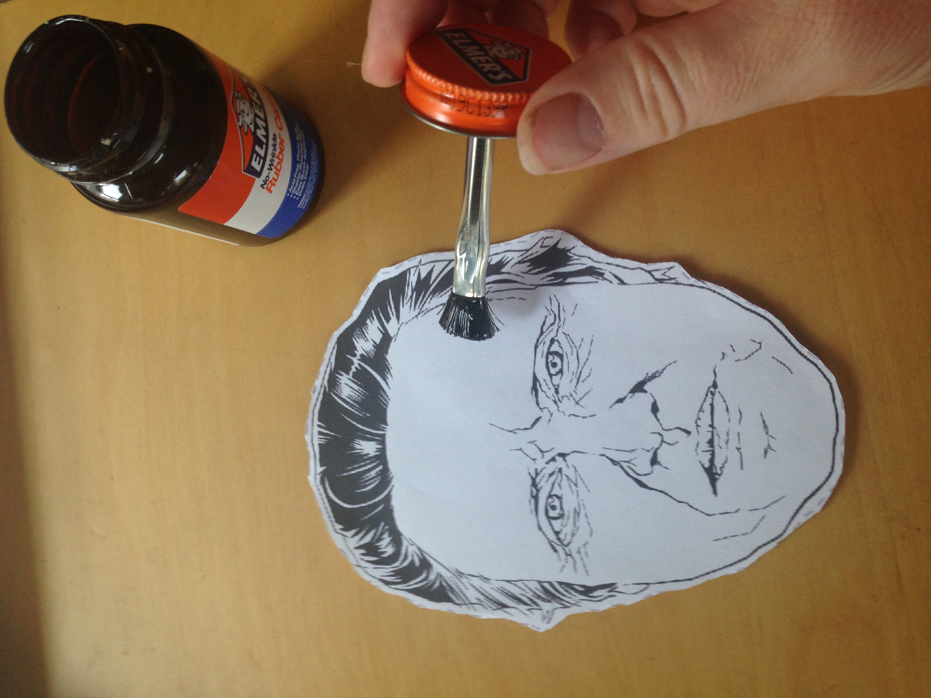slide christopher walken mask into ziplock bag