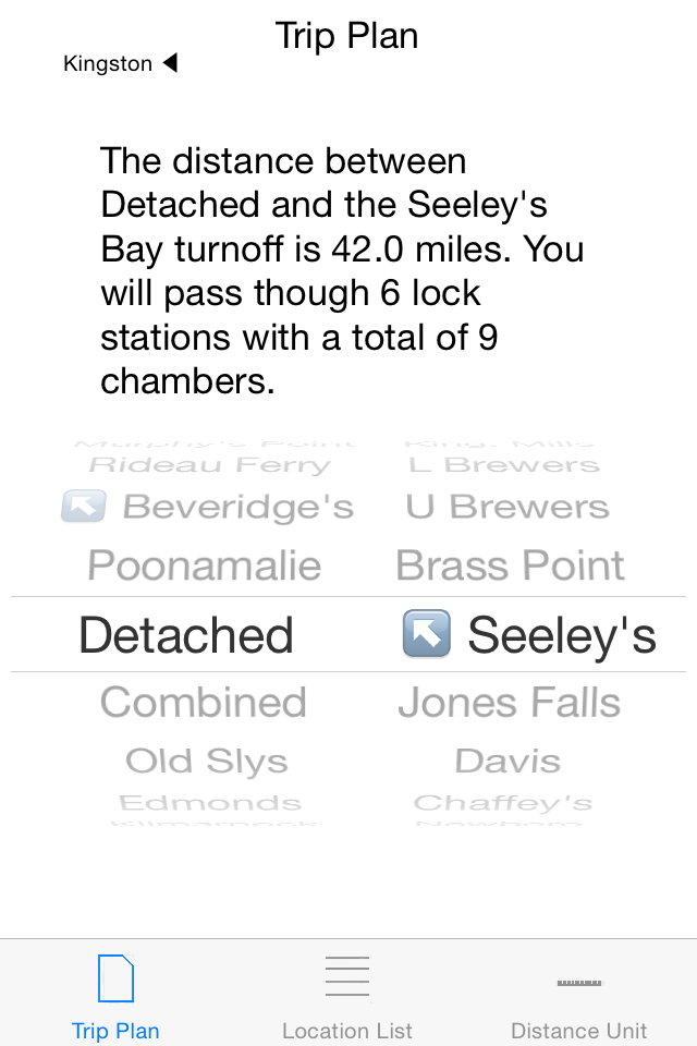 Select the your start and destination locations, check the travel distance and the amount of locking required.