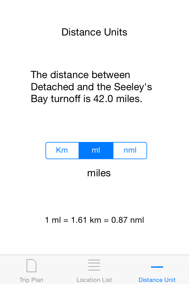 Select you preferred distance units.