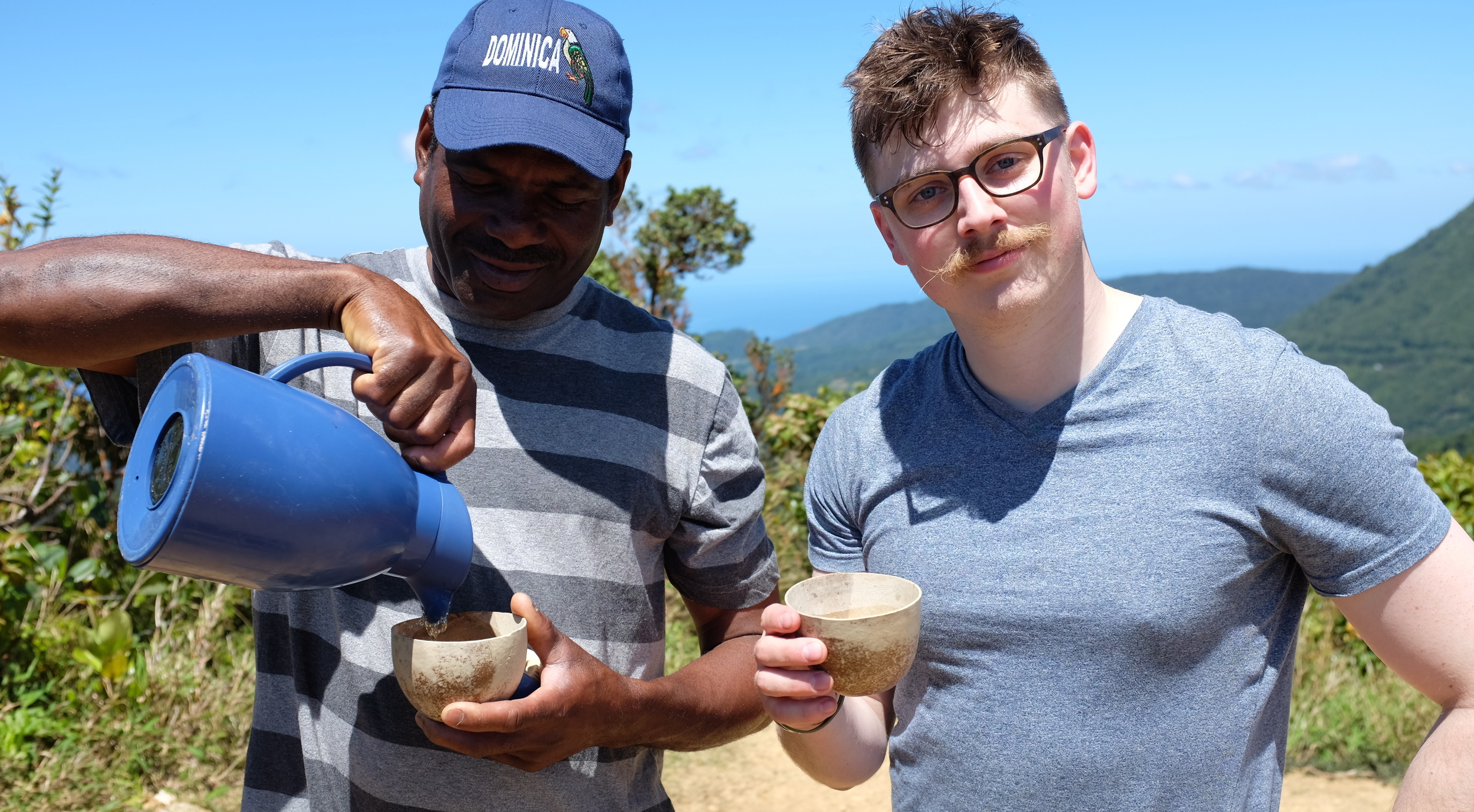 "Michel Bruno, our trail guide, or as Josh dubbed him ""Trail Master"" brought homemade lemongrass sweet tea up on the hike. Never has warm tea been so sweet and refreshing."