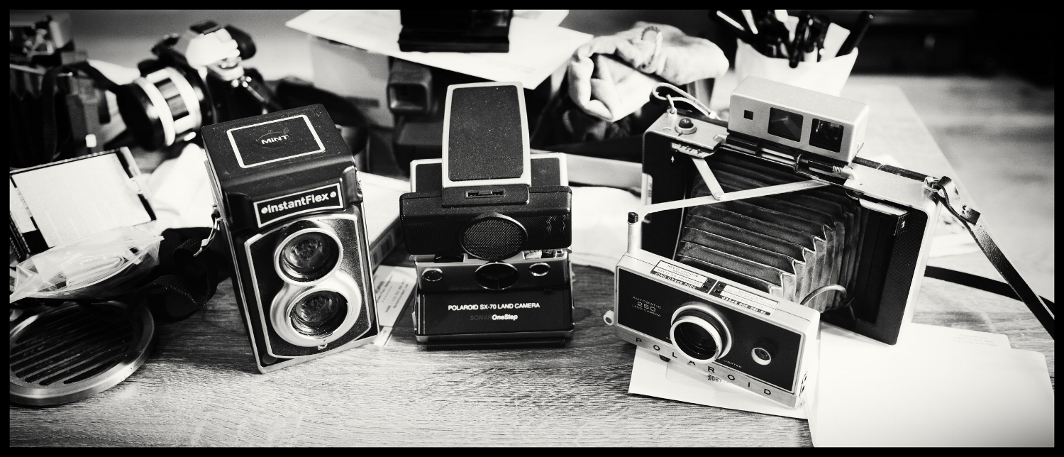 The instant cameras I shoot with.