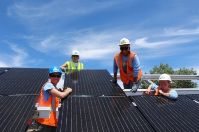 Volunteers at the Delta-Montrose Electric Association Project Install