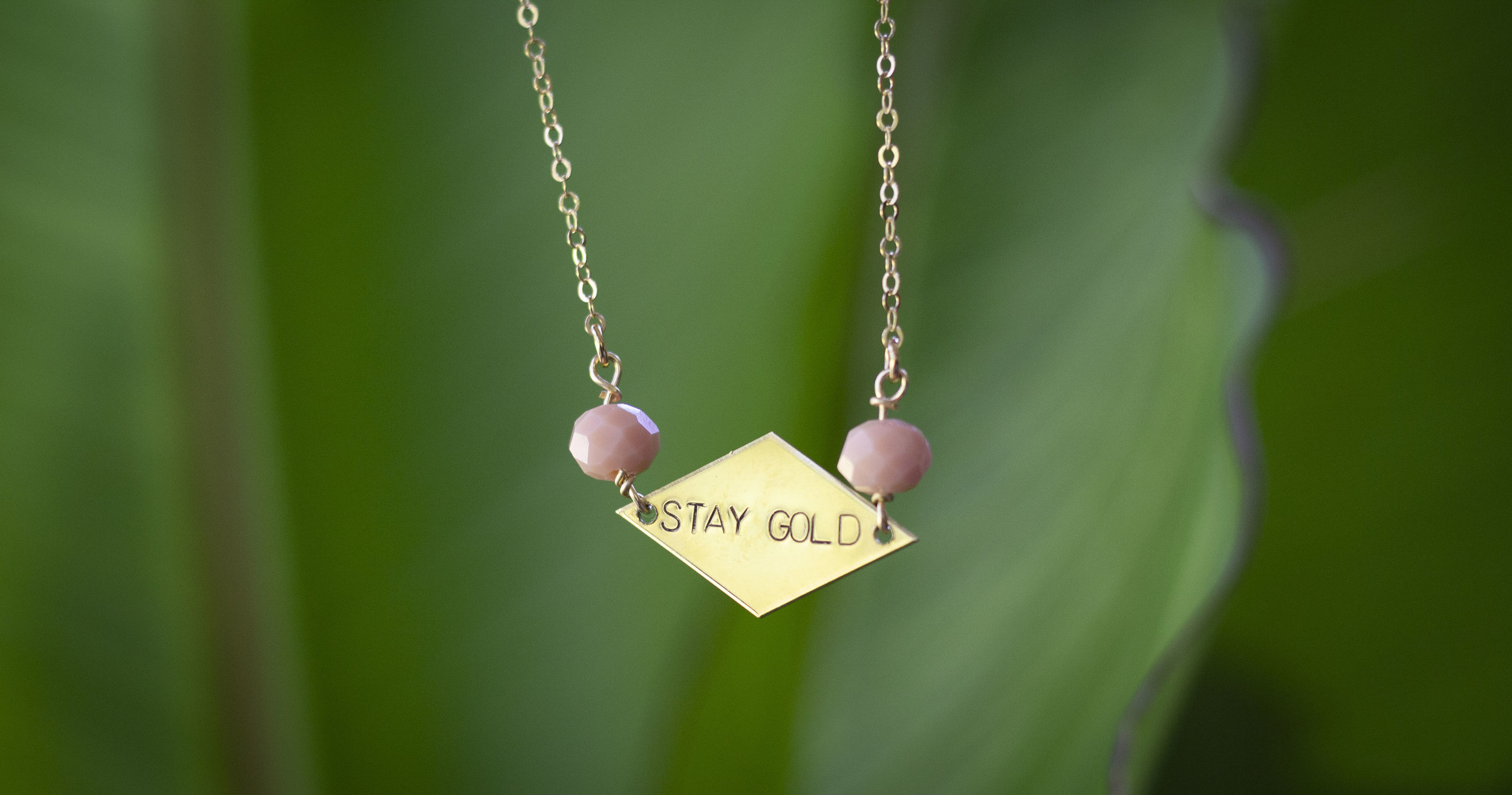 Stay Gold Necklace , the signature piece in Bang-Up Betty's newest  collection of retro jewelry inspired by The Golden Girls